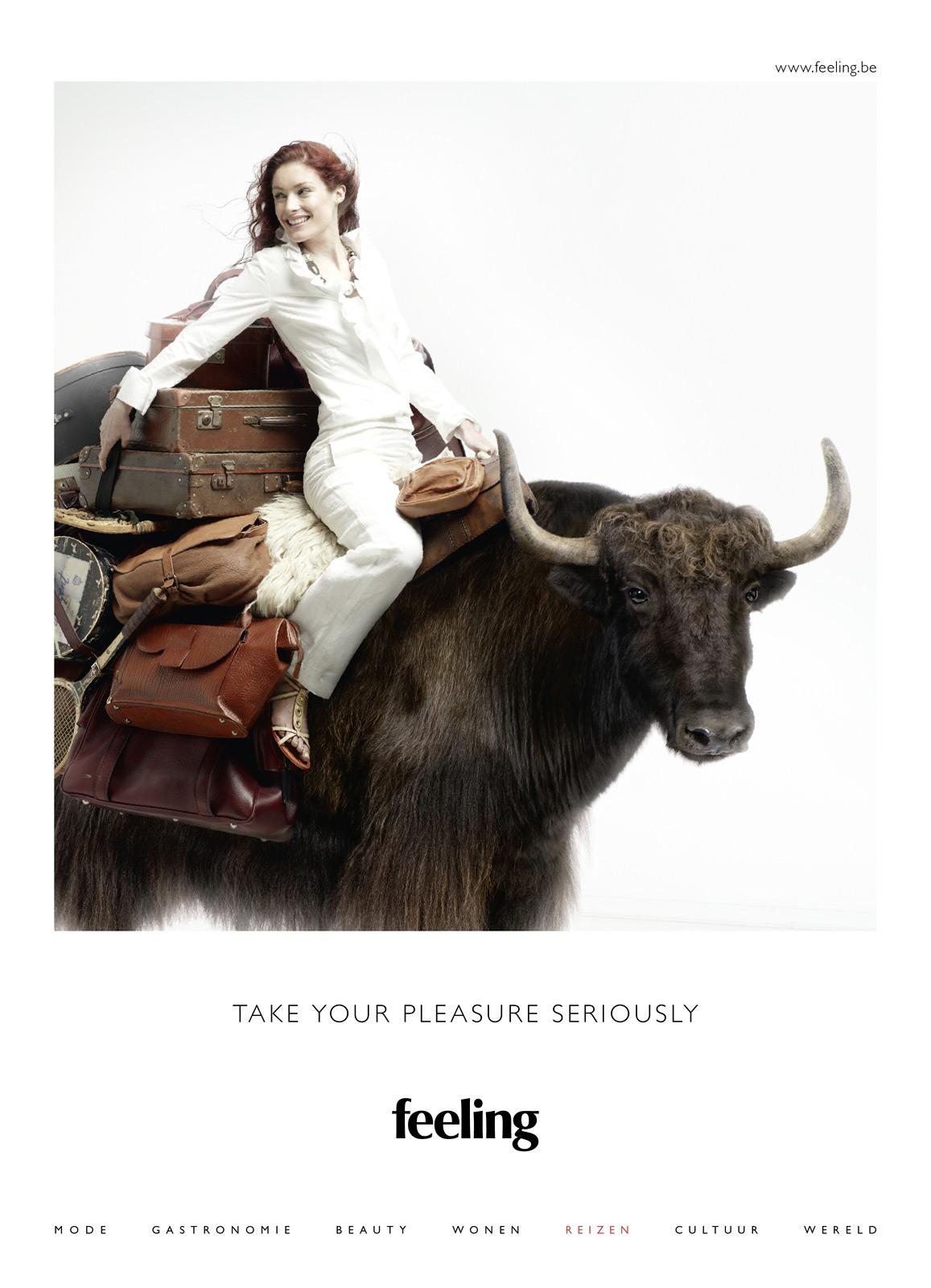 Feeling Print Ad -  Take Your Pleasure Seriously, Travel