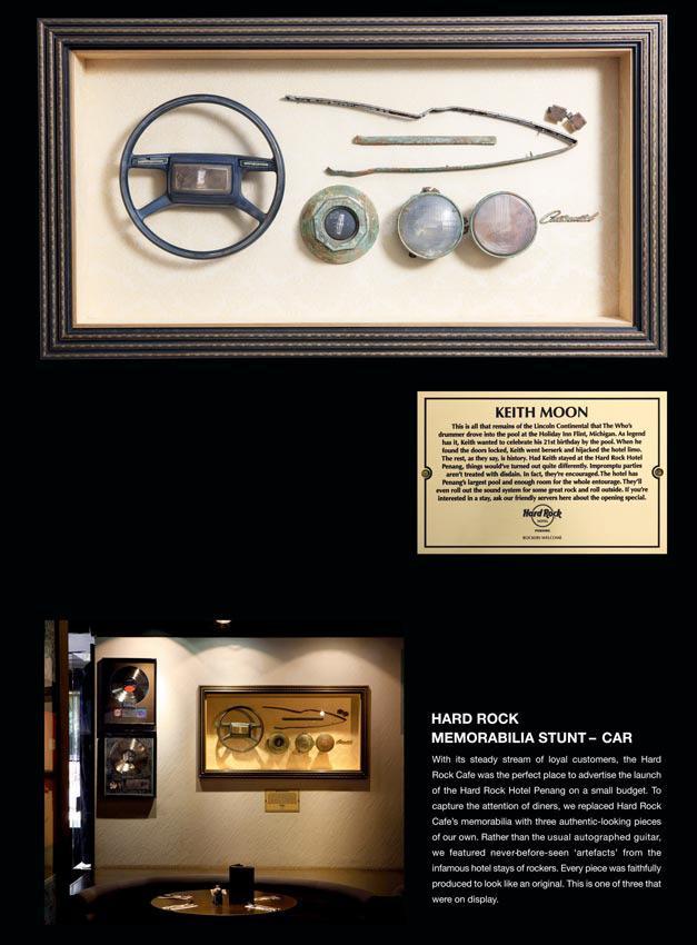 Hard Rock Cafe Print Ad -  Keith Moon