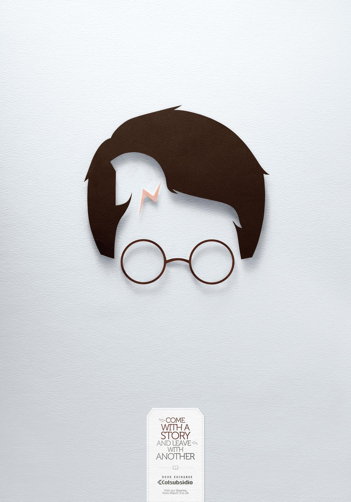 Colsubsidio Print Ad -  Harry Potter and Troy