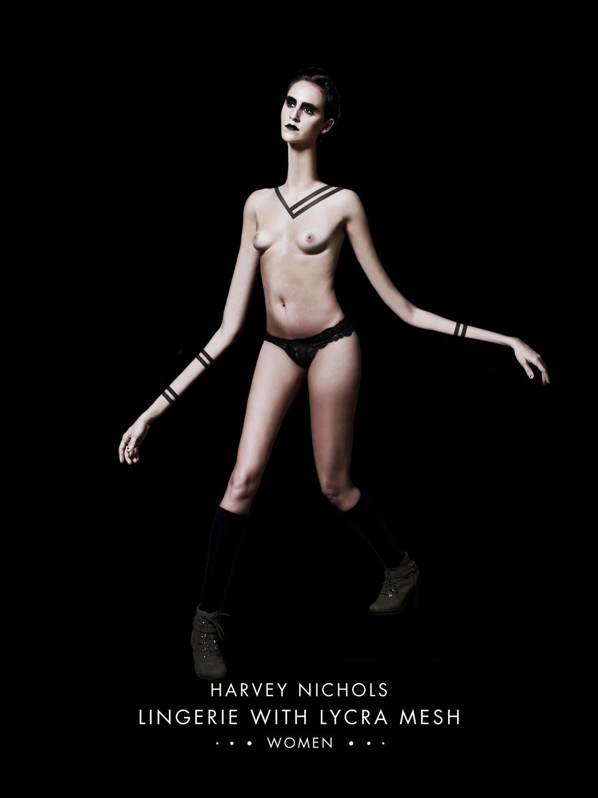 Harvey Nichols Print Ad -  Lingerie With Lycra Mesh, 3