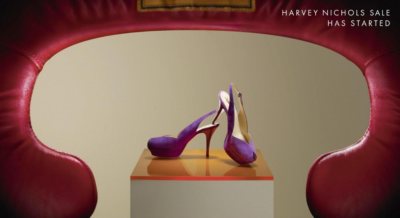 Harvey Nichols Outdoor Ad -  High heels