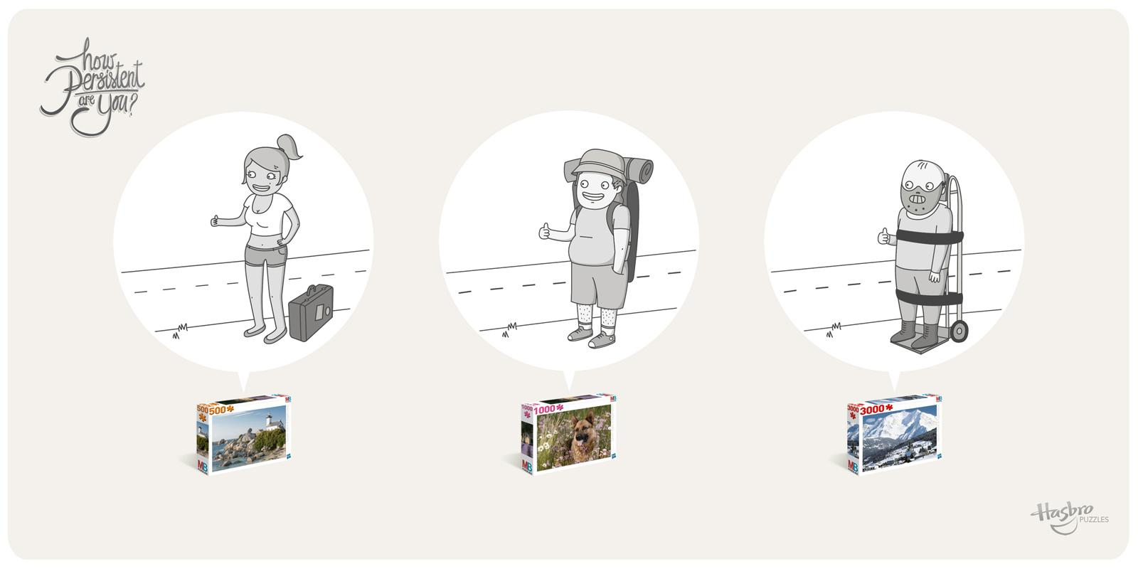 Hasbro Print Ad -  Hitchhiking