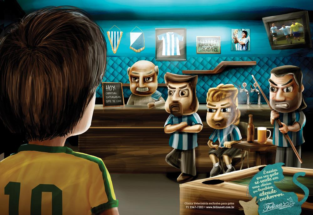 Felina Pet Shop Print Ad -  Brazilian