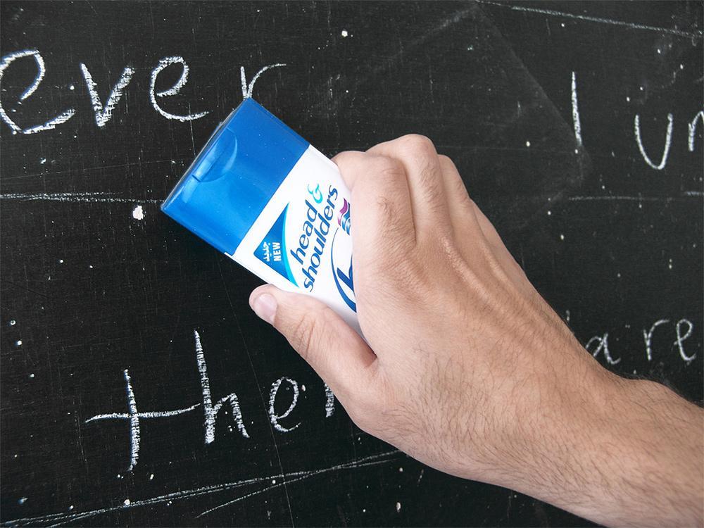 Head & Shoulders Ambient Ad -  Chalkboard