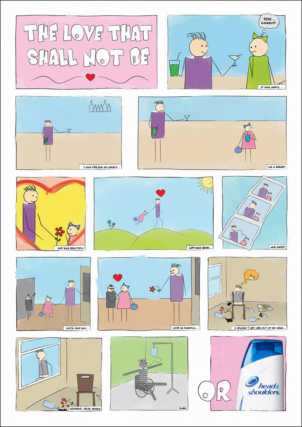 Head & Shoulders Print Ad -  Love