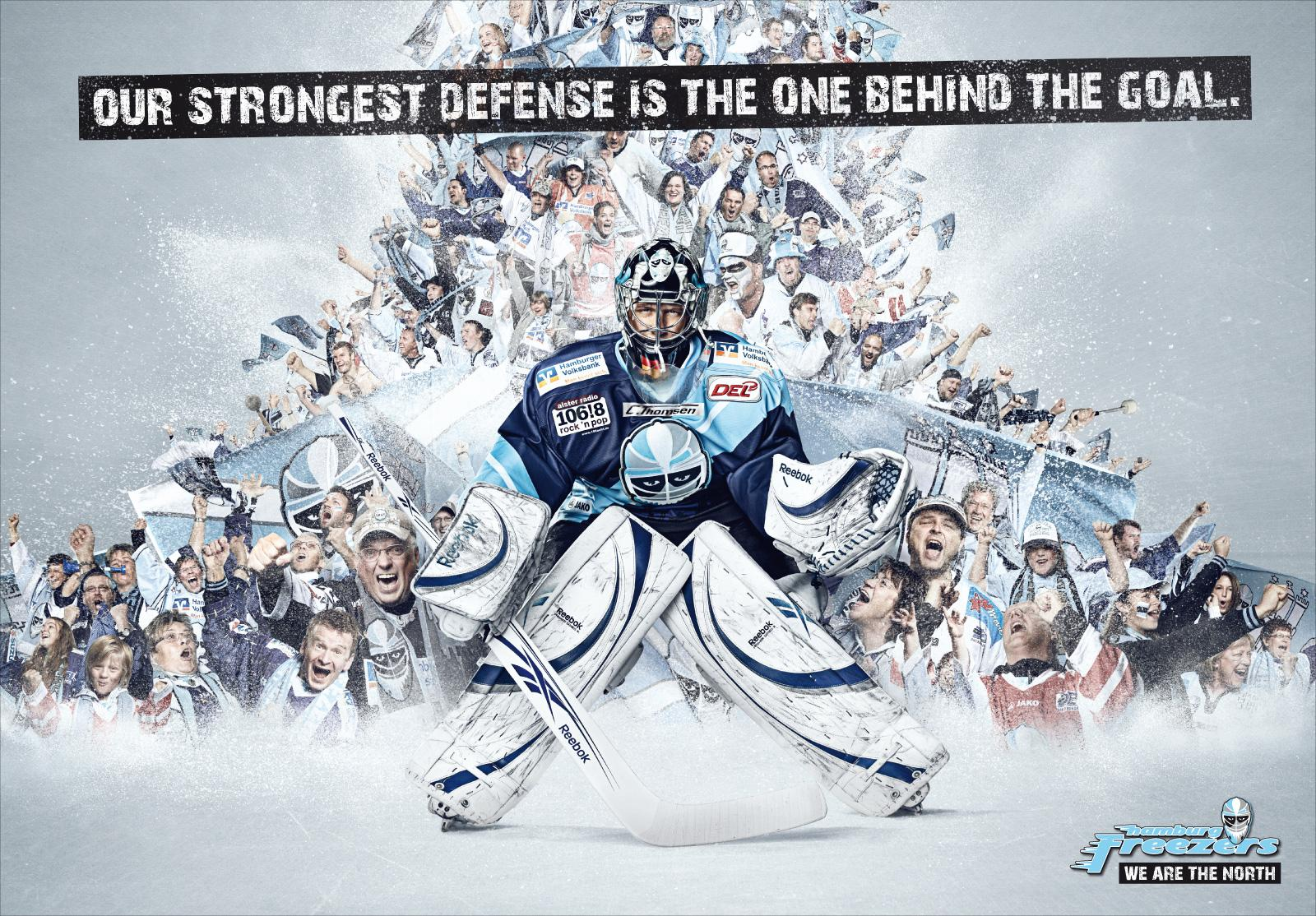 Hamburg Freezers Print Ad -  We are the north, Tornado