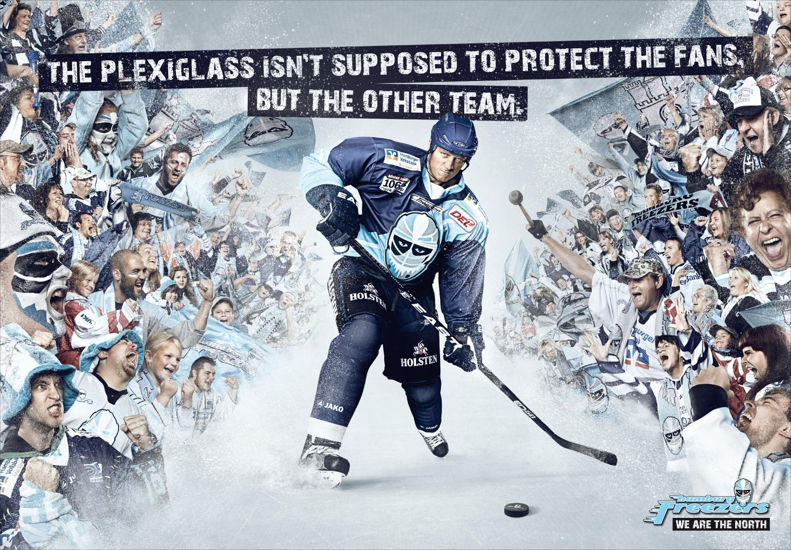 Hamburg Freezers Print Ad -  We are the north, Wall