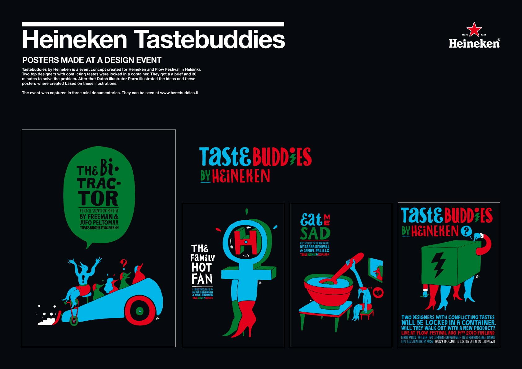 Heineken Outdoor Ad -  Tastebuddies