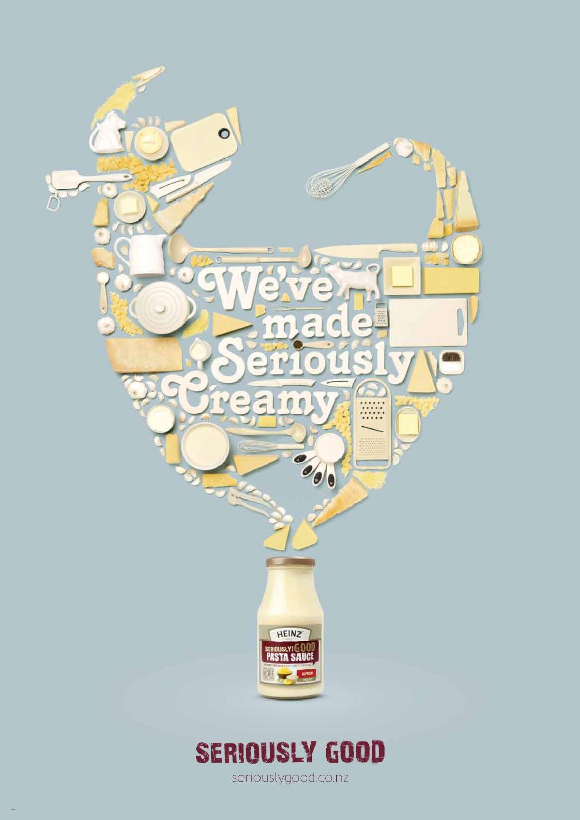 Heinz Print Ad -  Seriously Creamy