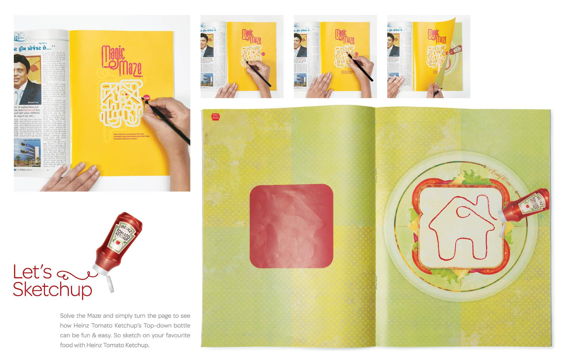 Heinz Print Ad -  Heinz Sketch up, 2