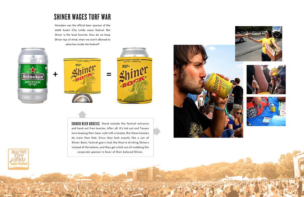 Shiner Beer Direct Ad -  Koozies