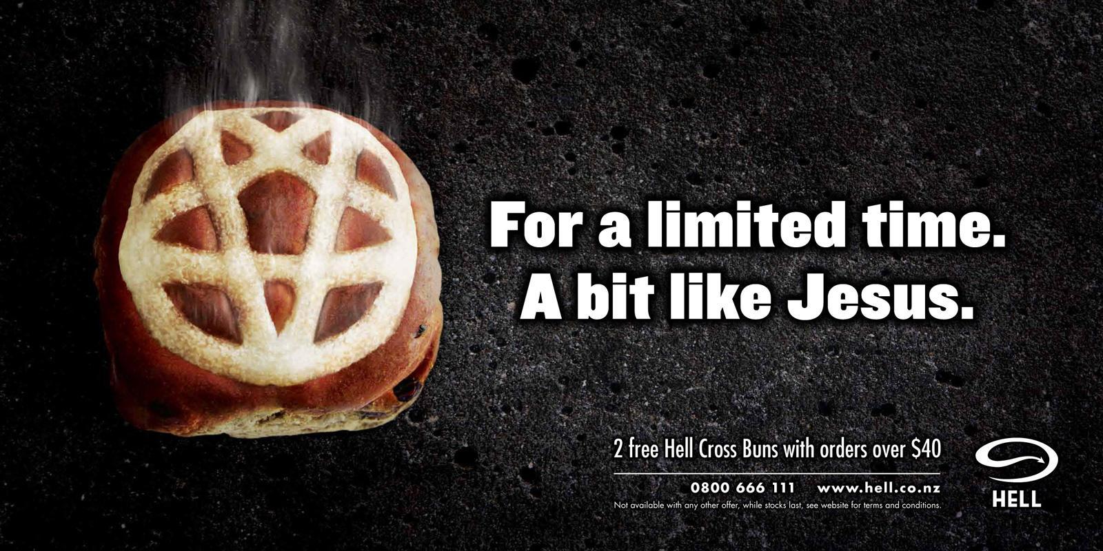 Hell Pizza Outdoor Ad -  Hell Cross Bun