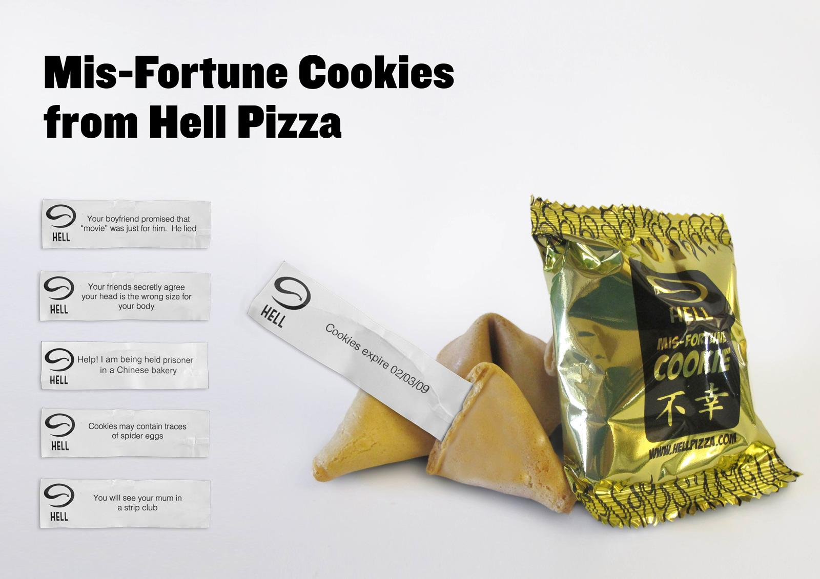 Hell Pizza Direct Ad -  Mis-Fortune Cookies