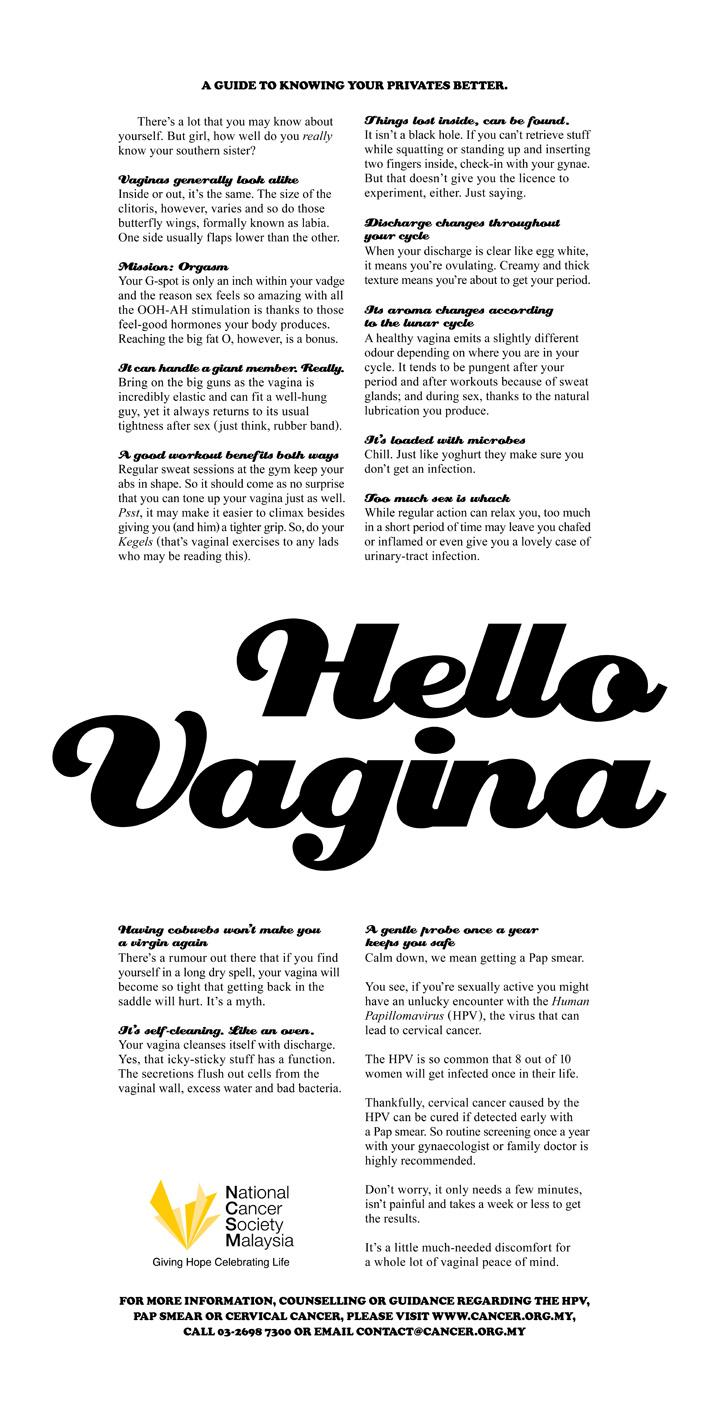 National Cancer Society Print Ad -  Hello