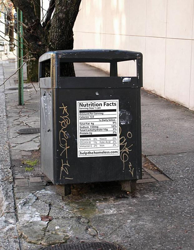 Help the Homeless Ambient Ad -  Trash bin
