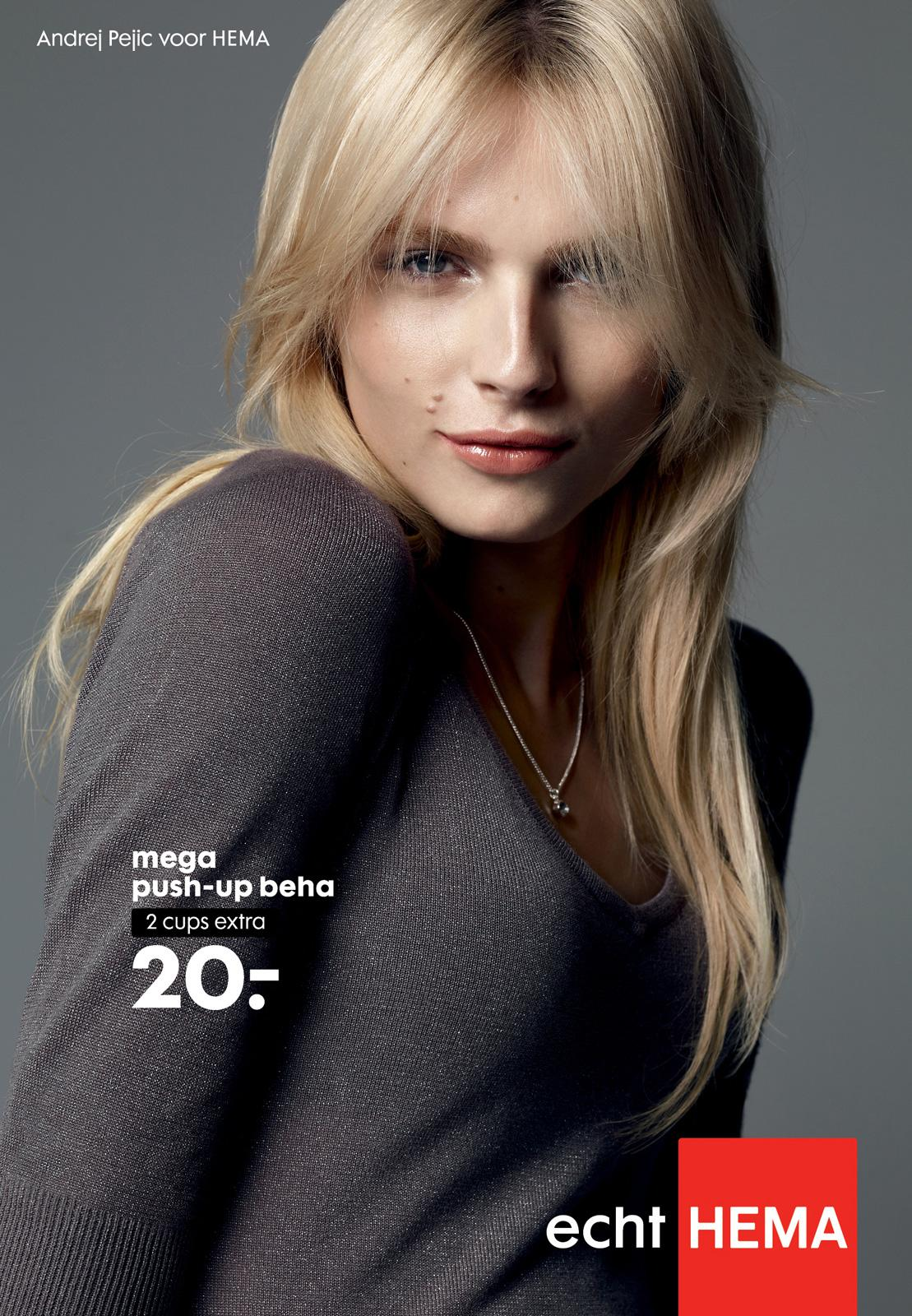 Hema Outdoor Ad -  Push-up bra modelled by Andej Pejic, 2