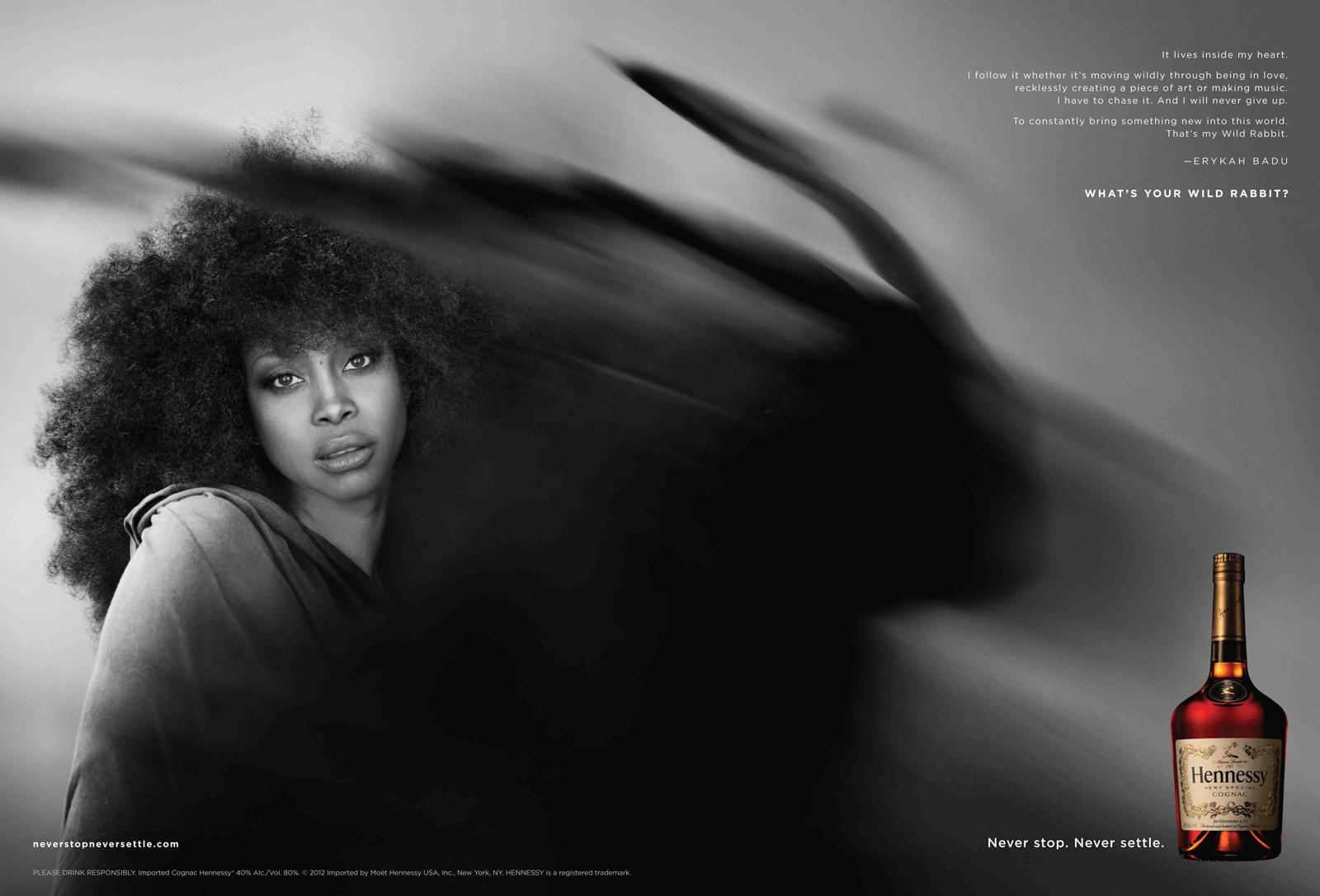 Hennessy Print Ad -  Erykah