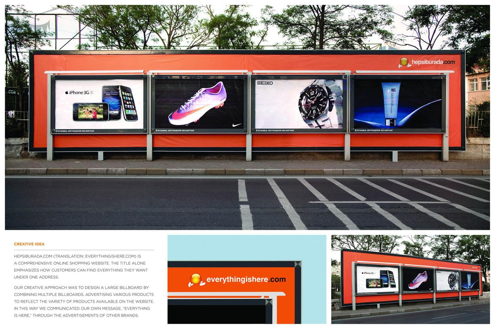 Hepsiburada Outdoor Ad -  Oversized billboard
