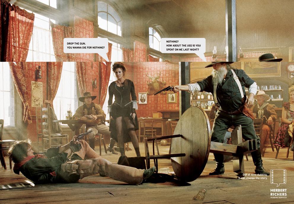 Herbert Richers Print Ad -  Western