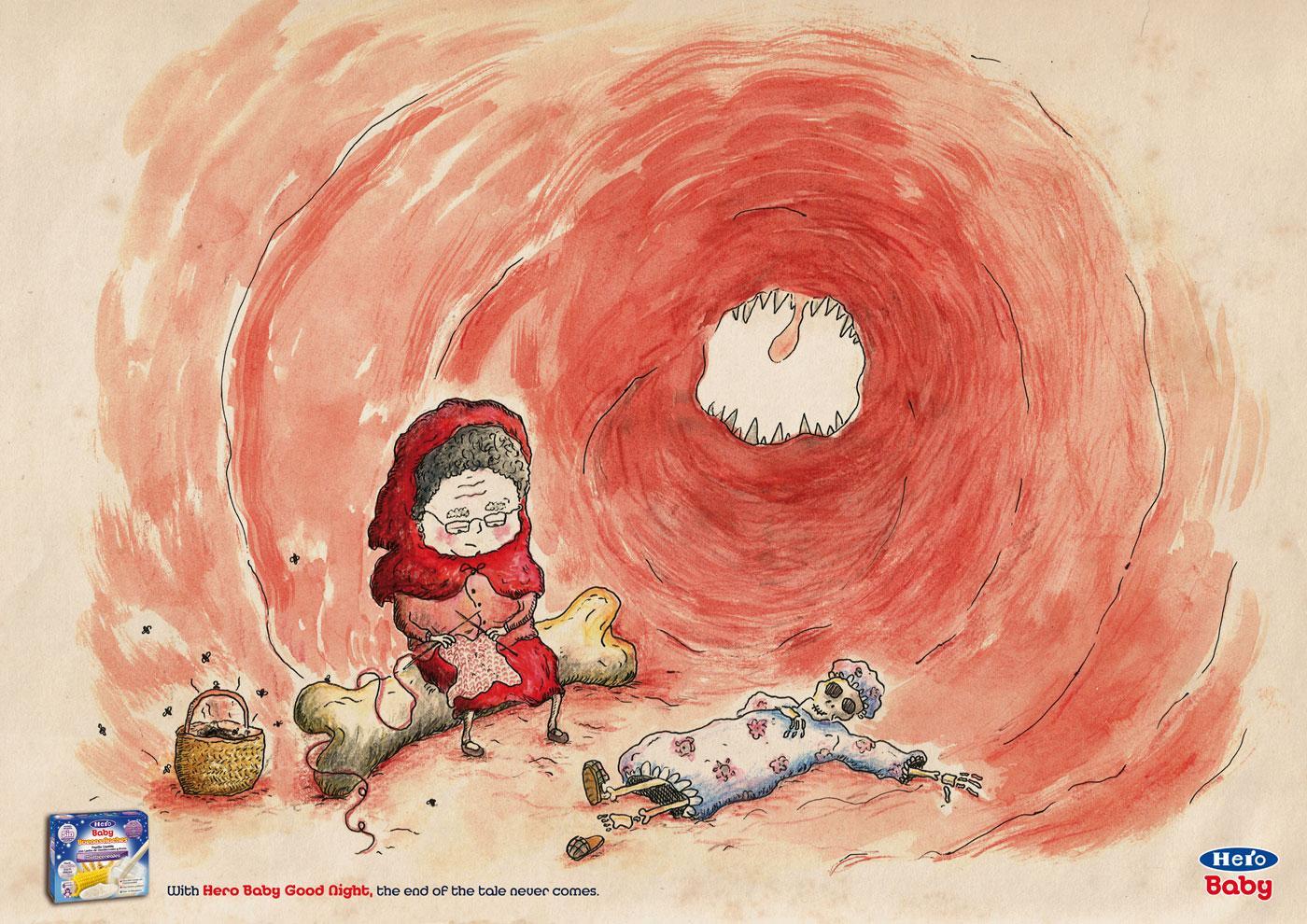 Hero Baby Print Ad -  Little Red Cap