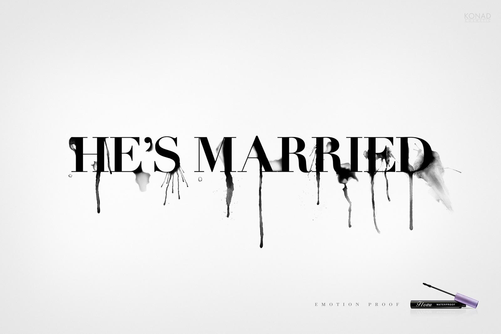 Flobu Print Ad -  He's married