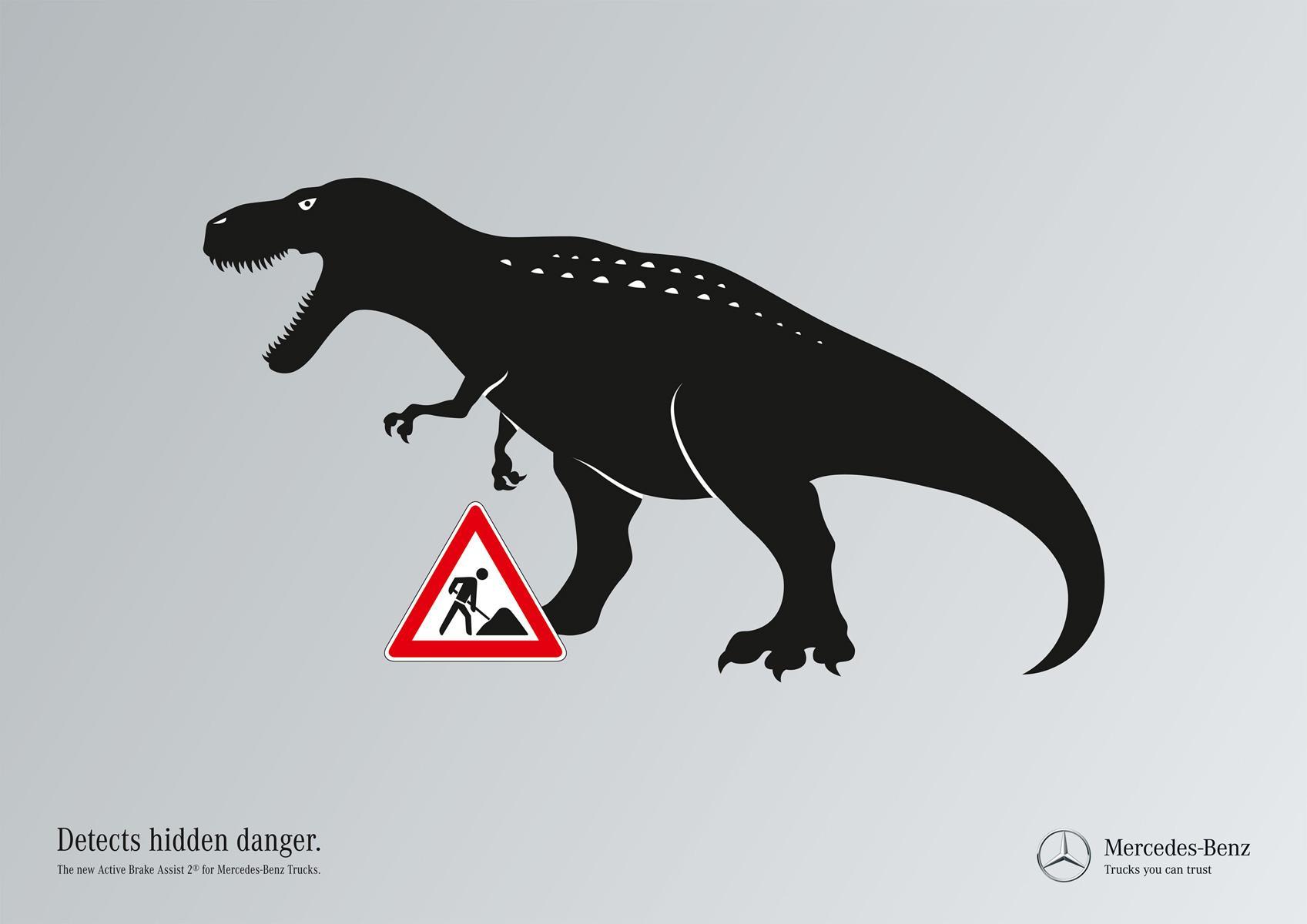 Mercedes Print Ad -  Hidden dangers, Dino