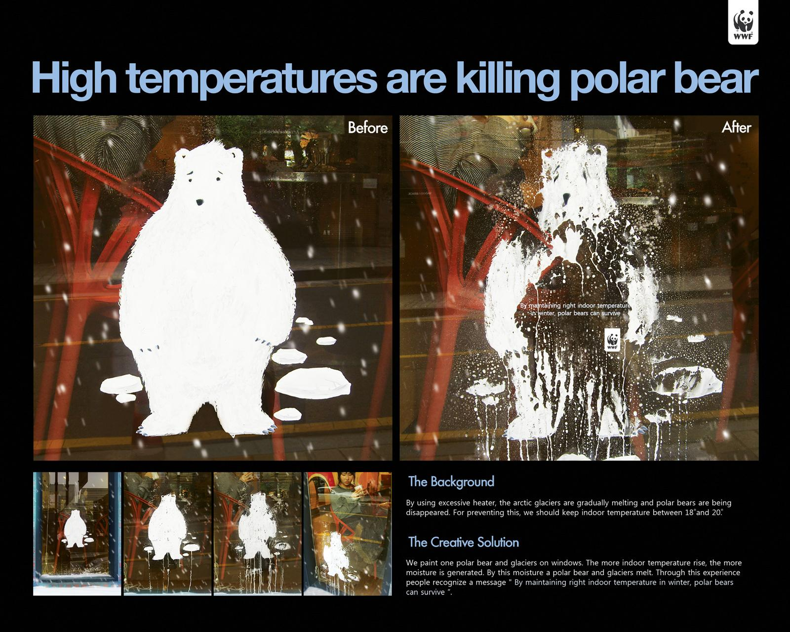 WWF Ambient Ad -  High temperatures are killing polar bear