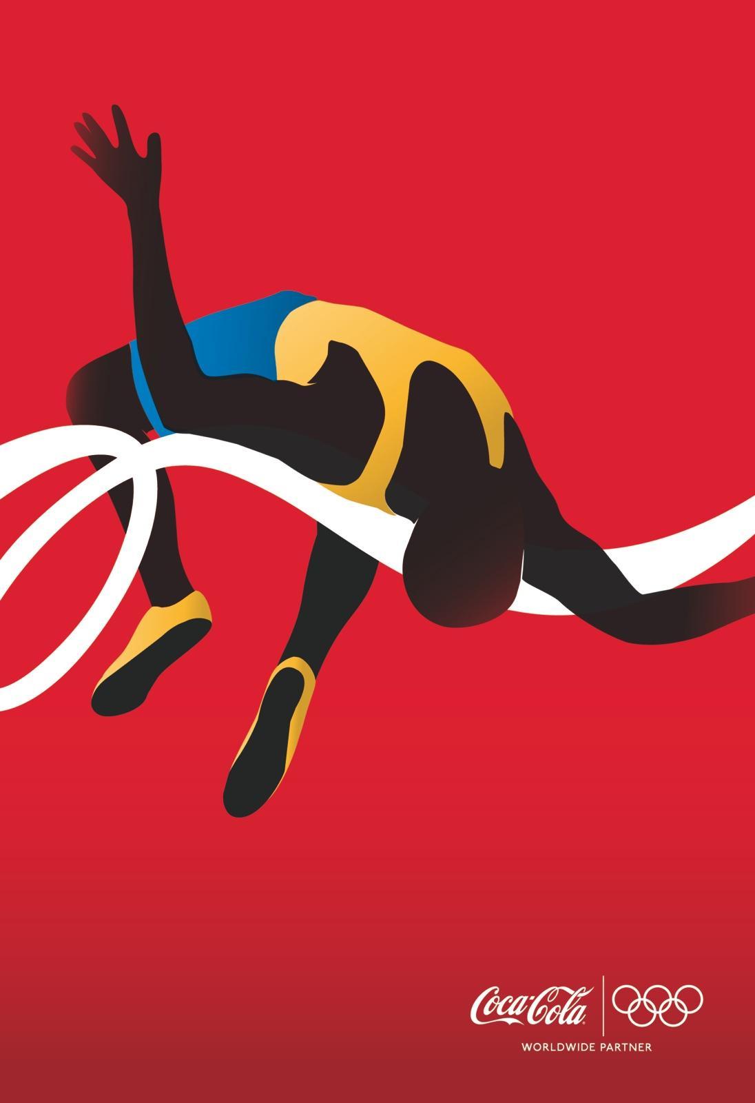 Coca-Cola Outdoor Ad -  Athletes, High Jumper