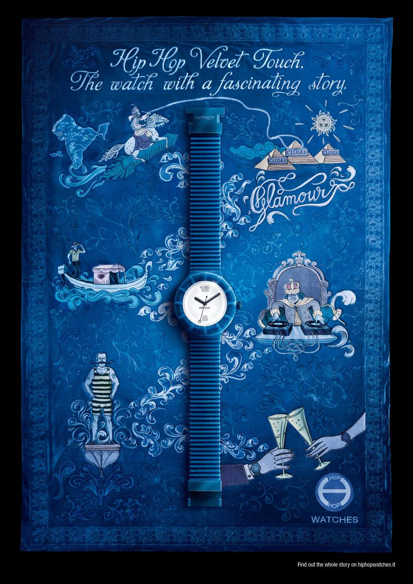 Hip Hop Print Ad -  Velvet Touch, Blue