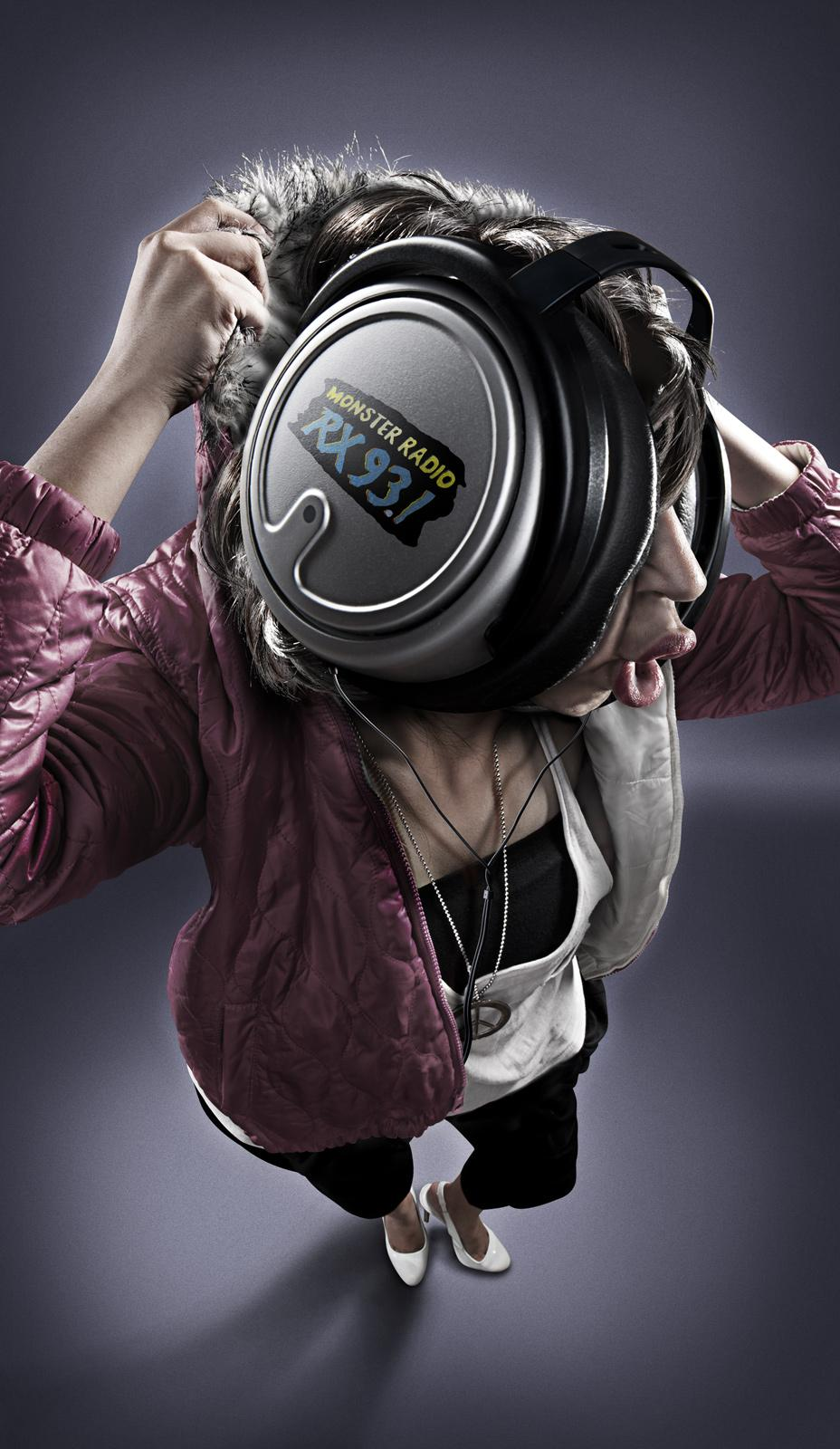 Monster Radio RX 93.1 Print Ad -  HipHop Girl