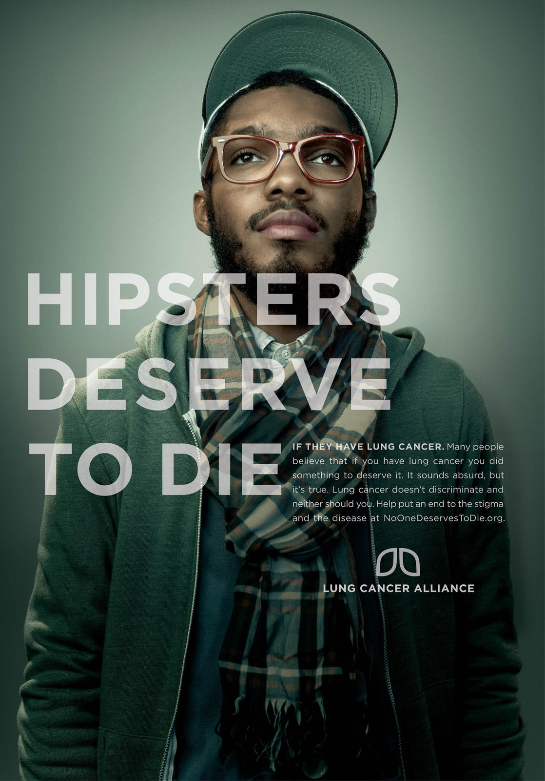 Lung Cancer Alliance Print Ad -  Hipsters