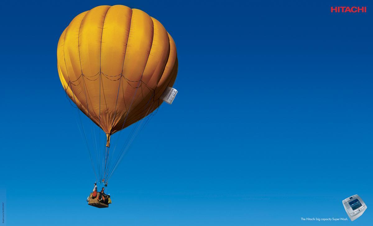 Hitachi Print Ad -  Hot air balloon