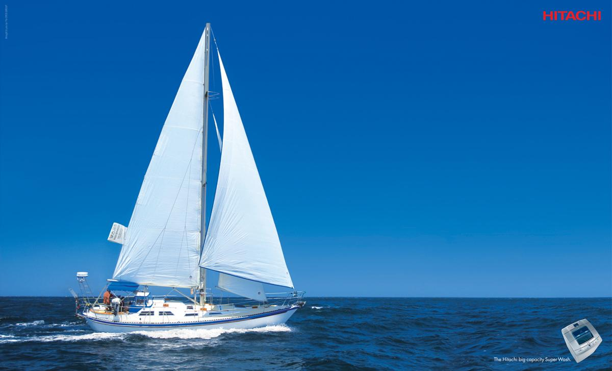 Hitachi Print Ad -  Yacht