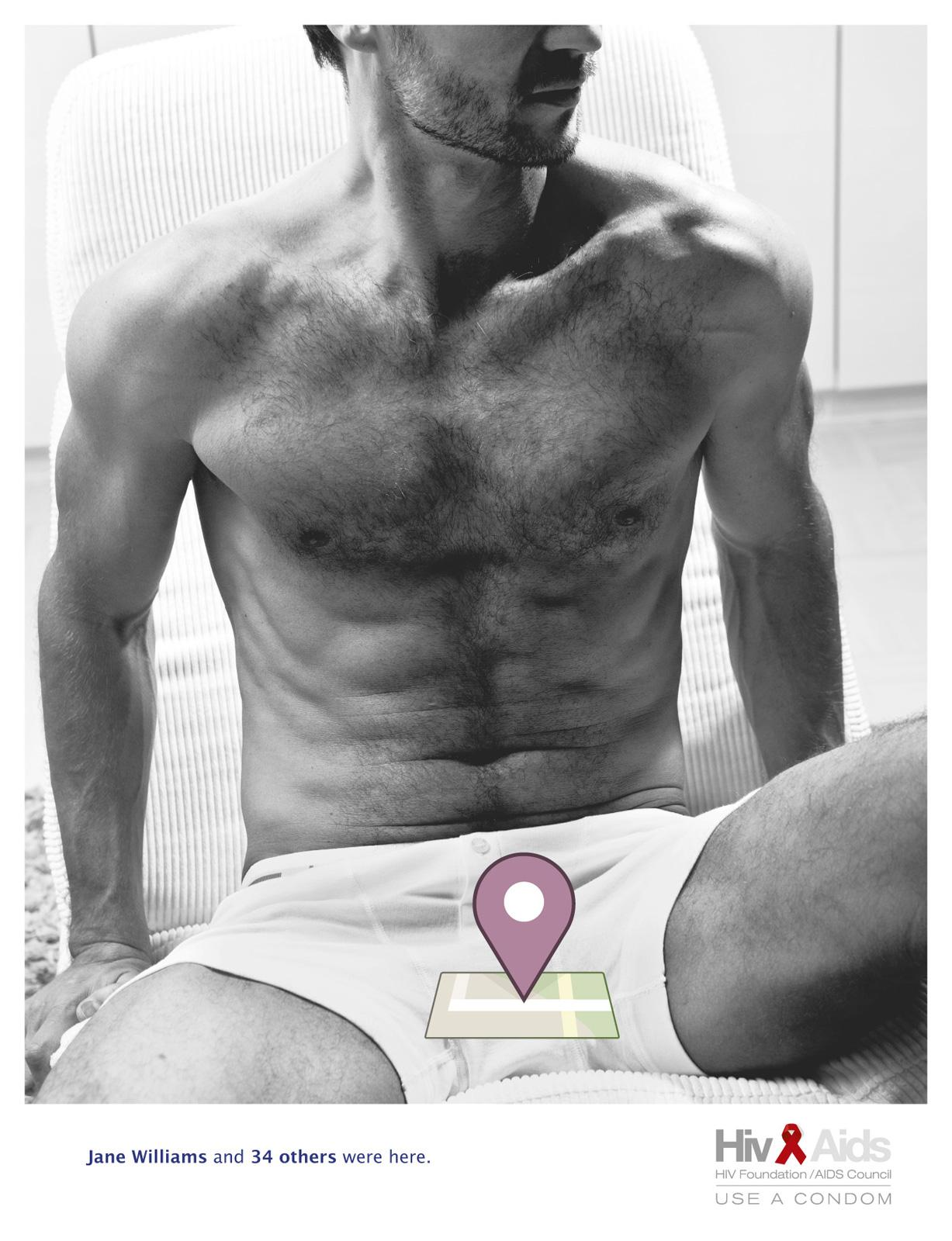 HIV-Foundation Print Ad -  Places, Man
