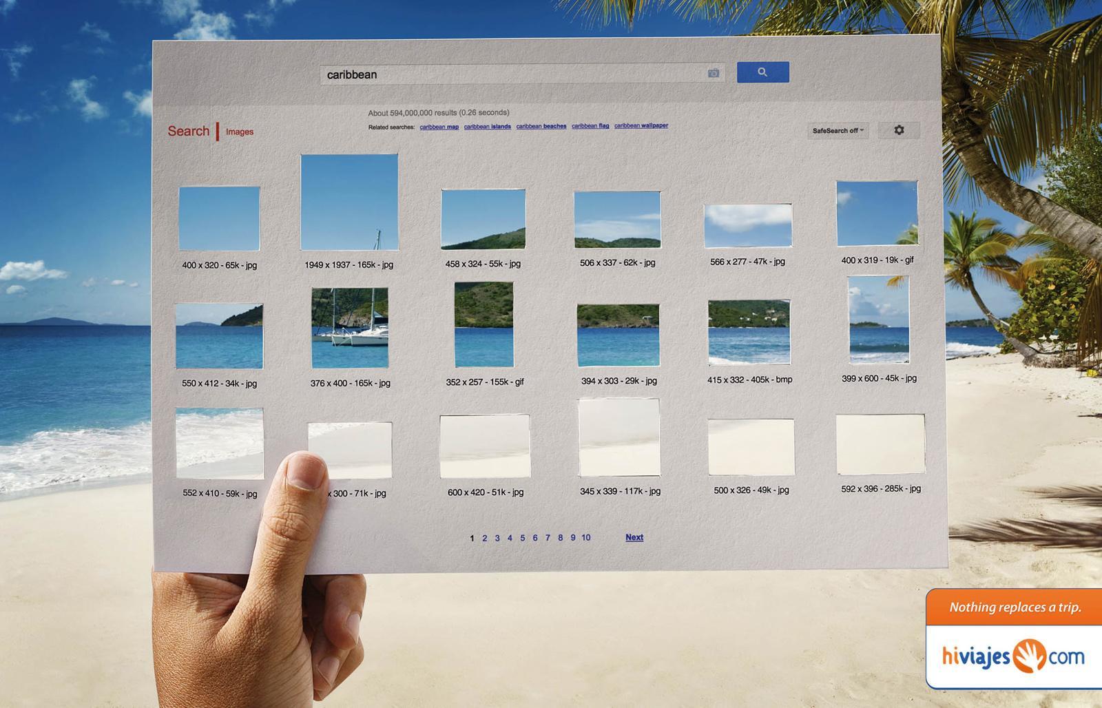 Hi Viajes Print Ad -  Google
