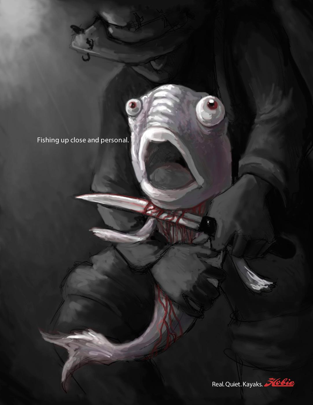 Hobie Print Ad -  Knife