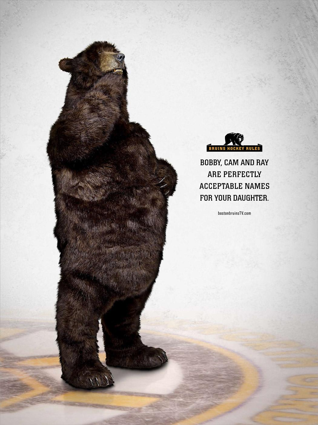 Boston Bruins Print Ad -  Daughter