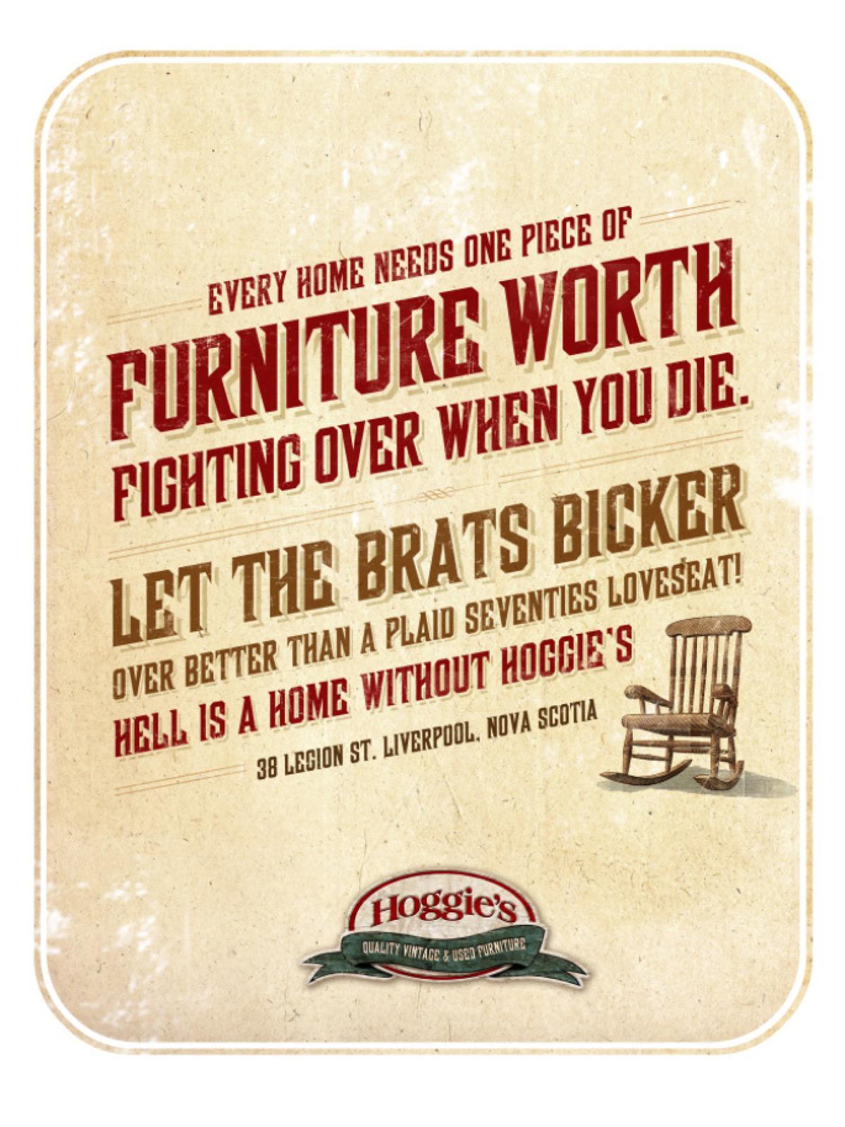 Hoggie's Print Ad -  Fight