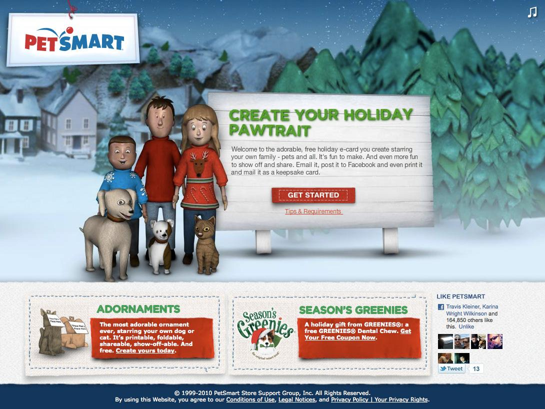 PetSmart Digital Ad -  Holiday Pawtraits