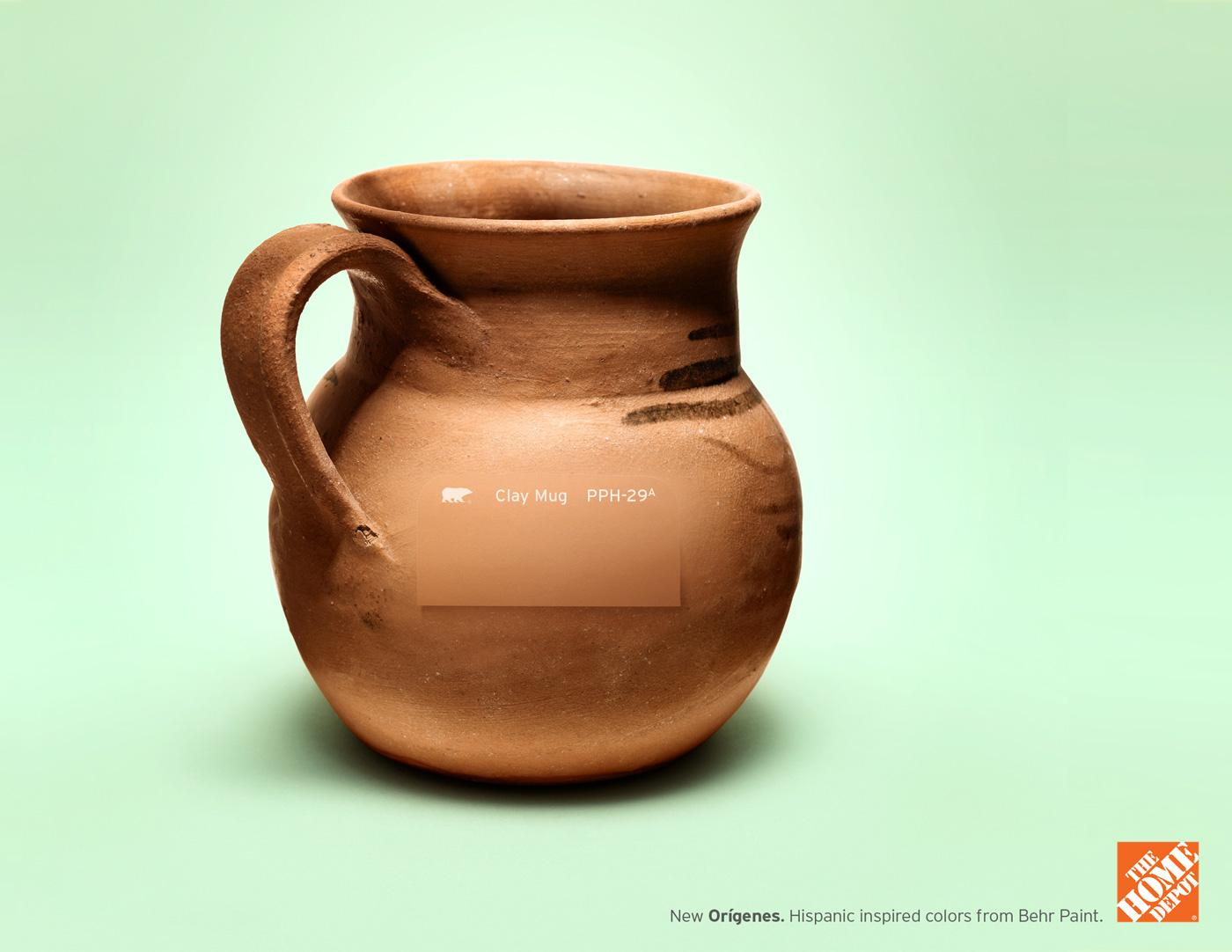 The Home Depot Print Ad -  Clay mug
