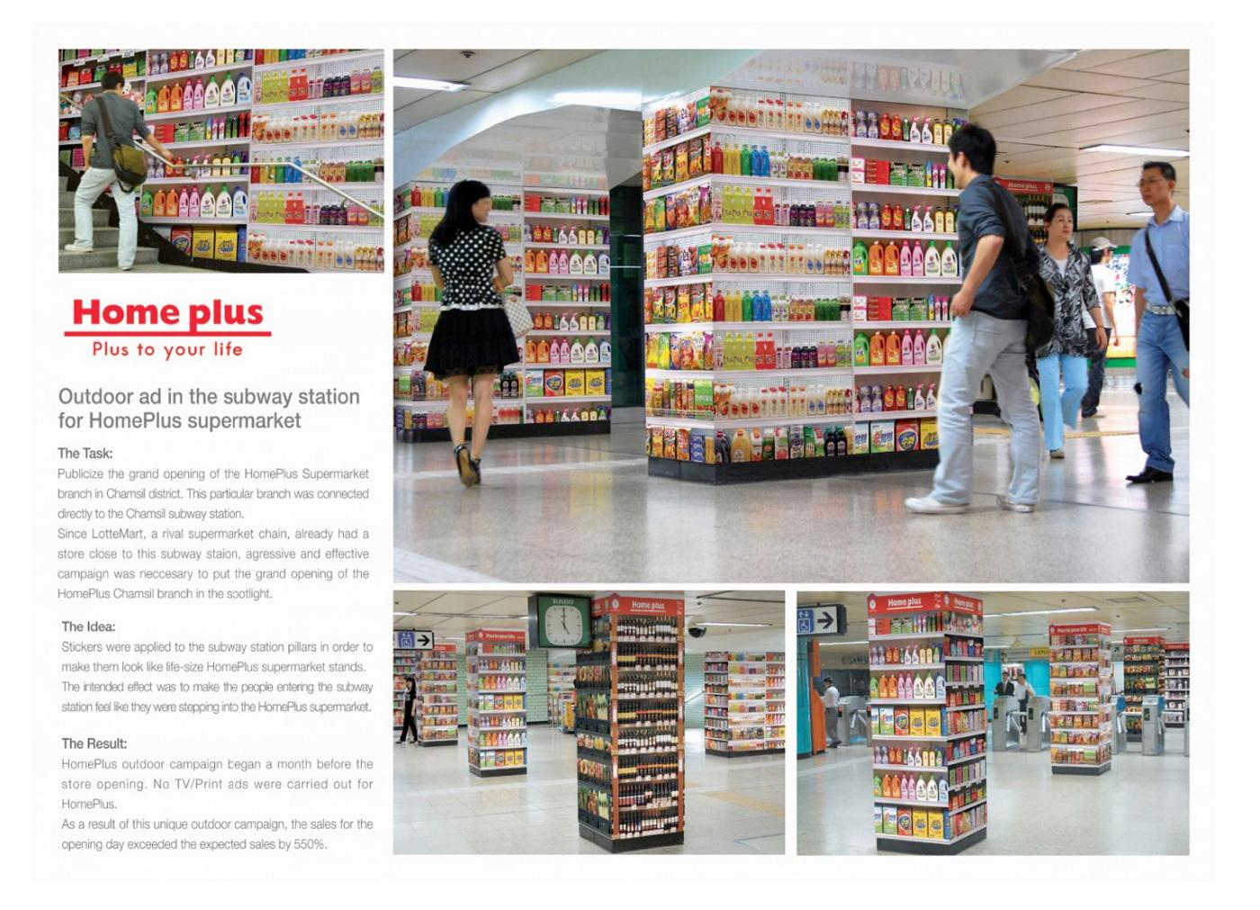 Homeplus Ambient Advert By Cheil Subway Ads Of The World