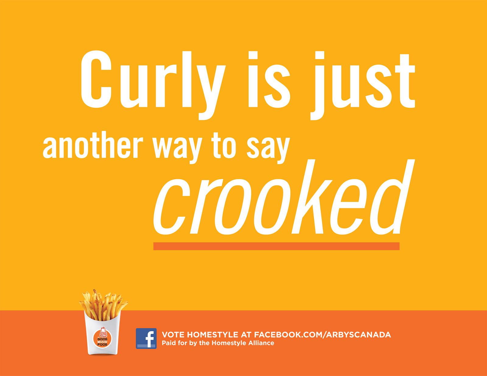 Arby's Outdoor Ad -  Crooked