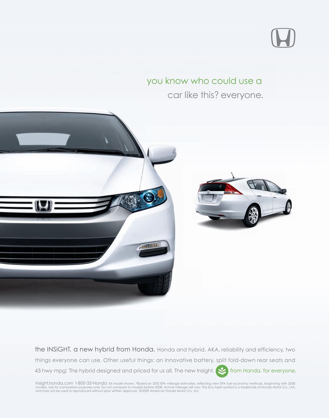 Honda Print Ad -  Everyone