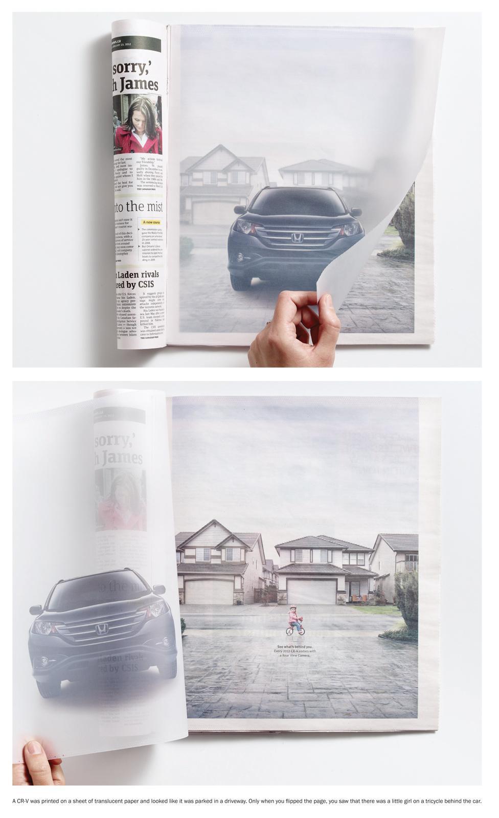 Honda Print Ad -  Translucent paper