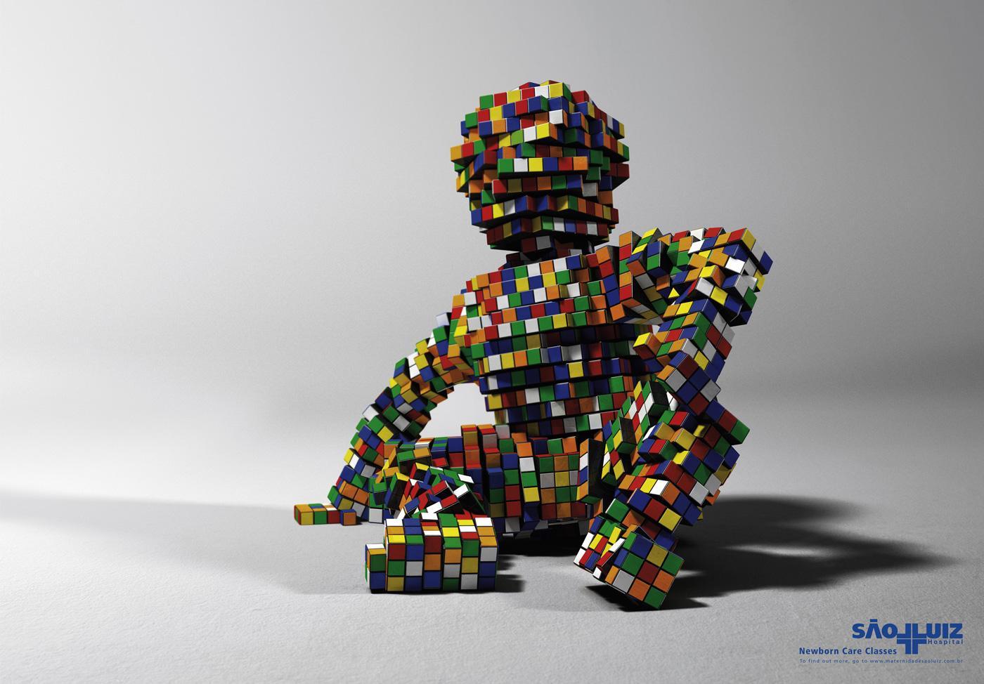 Hospital São Luiz Print Ad -  Rubik's Cube, 1