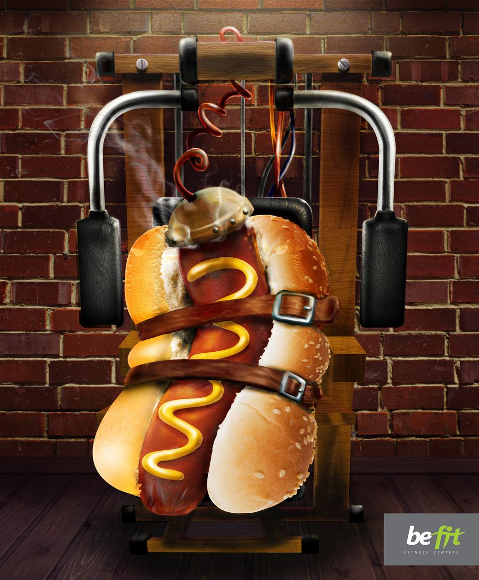 Be fit Print Ad -  Hot-dog