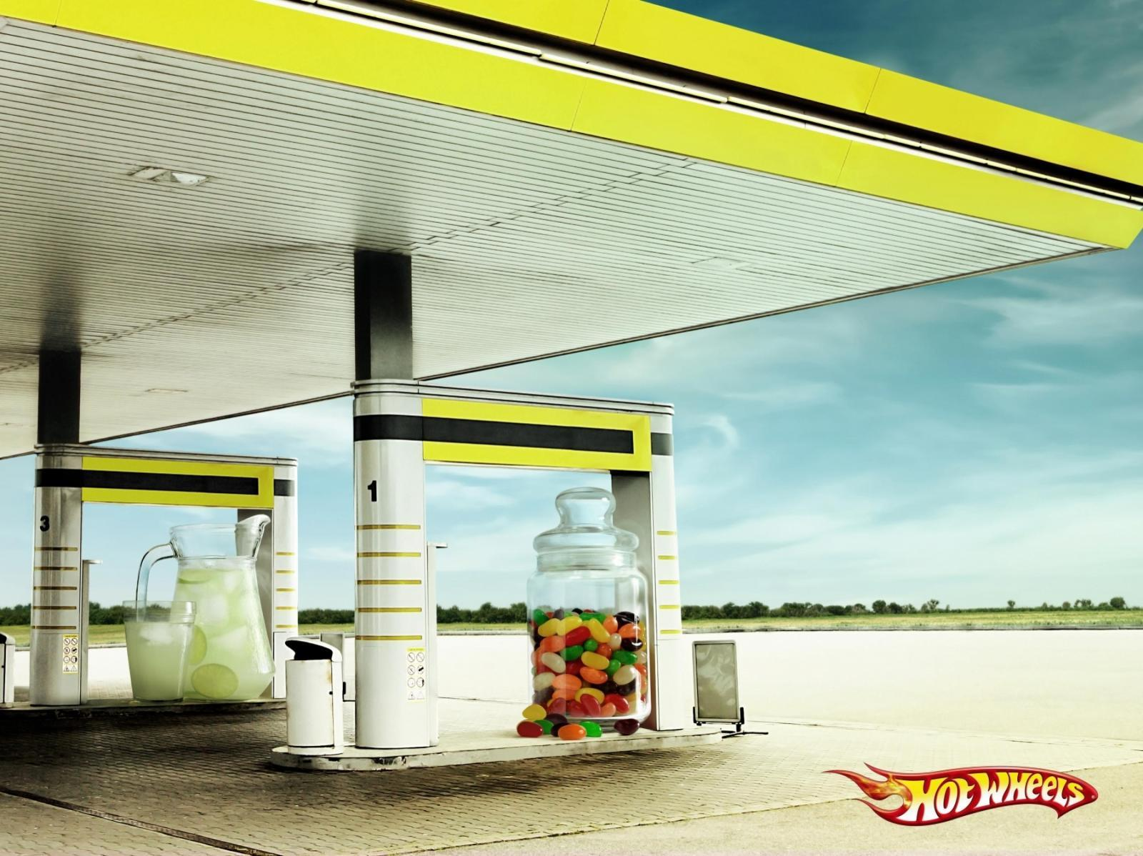 Hot Wheels Print Ad -  Lemonade and Candies