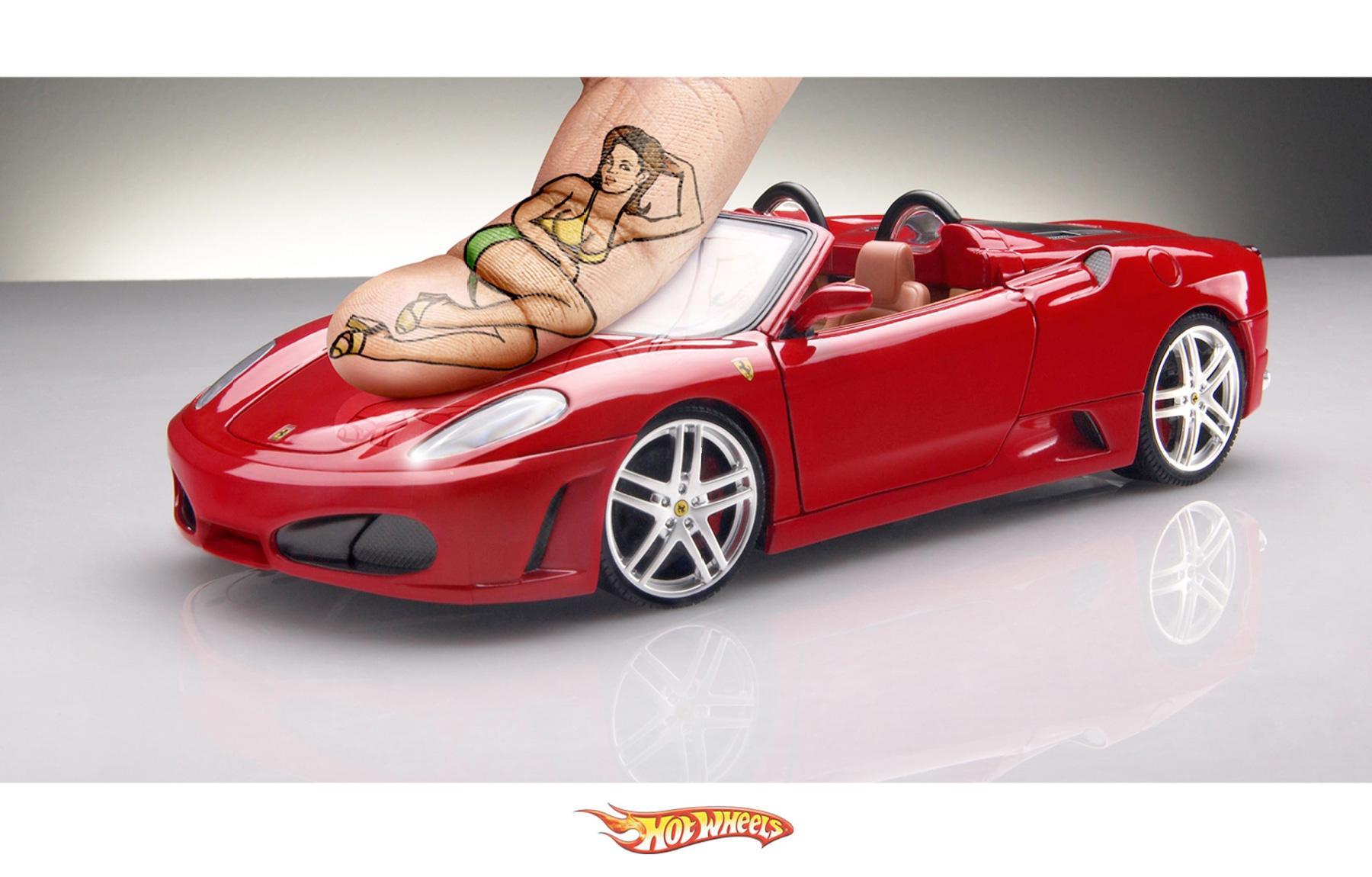 Hot Wheels Outdoor Ad -  Ferrari