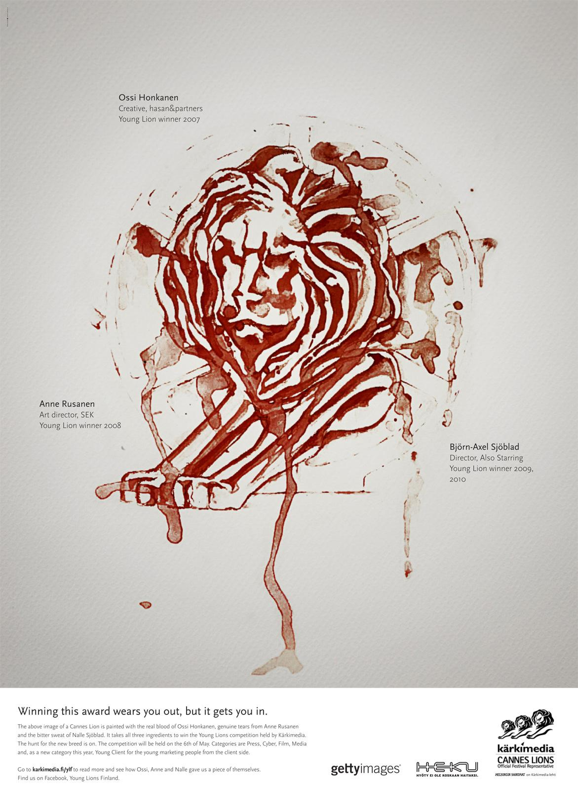 Kärkimedia Print Ad -  Blood, sweat and tears