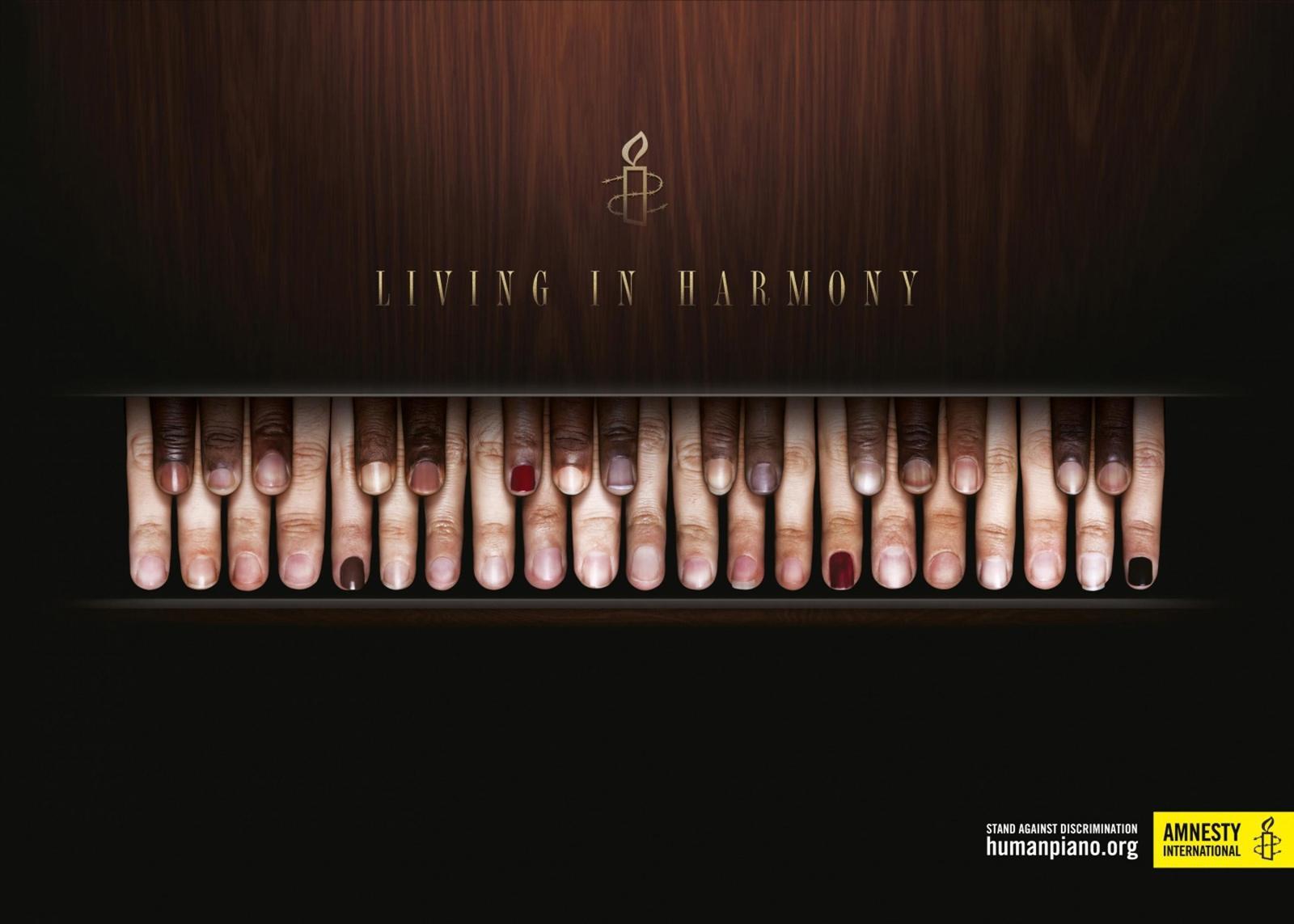 Amnesty International Print Ad -  Human Piano